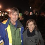 Jeff and Mary Deakin from Walnut Creek were the first in line at Harborside in Oakland on January 1.