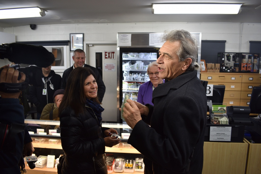 Chris Conrad: What We're Getting is three Jack Herer joints in honor of our friend JAck Herer who worked with us for many years but didn't survive to see the day we're buying joints in his name today.""
