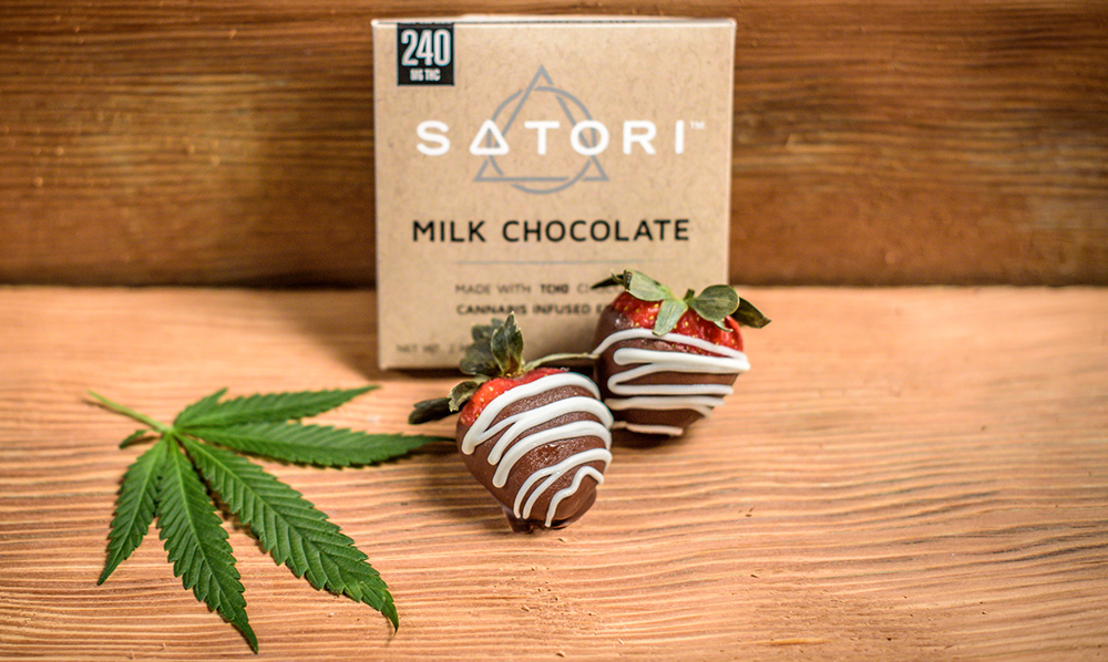 California infused food company Satori features luxury chocolate from TCHO in Berkeley, Calif.