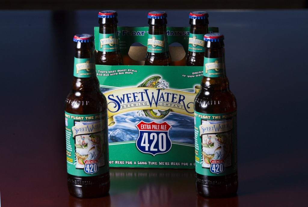 A portrait of SweetWater Brewing Co. 420 beer on Wednesday, Feb. 18, 2015, in Houston. ( J. Patric Schneider / For the Chronicle )