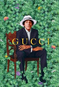 A photoshopped version of artist Kehinde Wiley's portrait of President Obama.