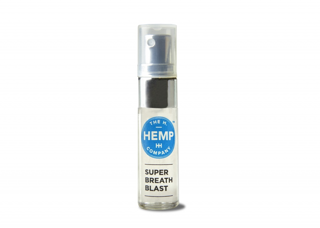 H.Hemp Co. Super Breath Blast Nano Spray, 160 mg per container, 80 sprays, $24.99, https://honesthemp.com | Photo courtesy of H.Hemp Co.