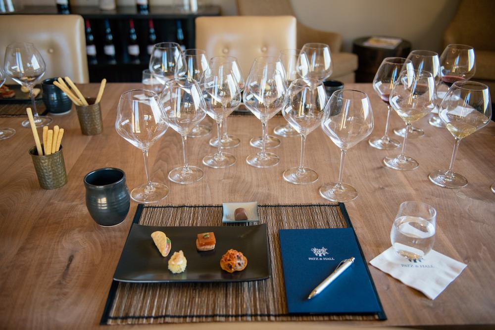 Patz, Patz & Hall winery, tasting, food and wine