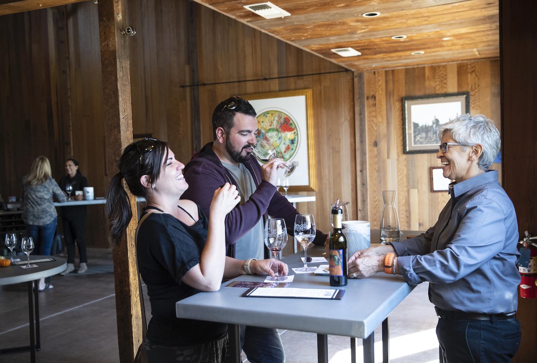 Lucas winery Lodi, Lucas winery, people drinking wine, couple drinking wine, friends drinking wine, wine tasting