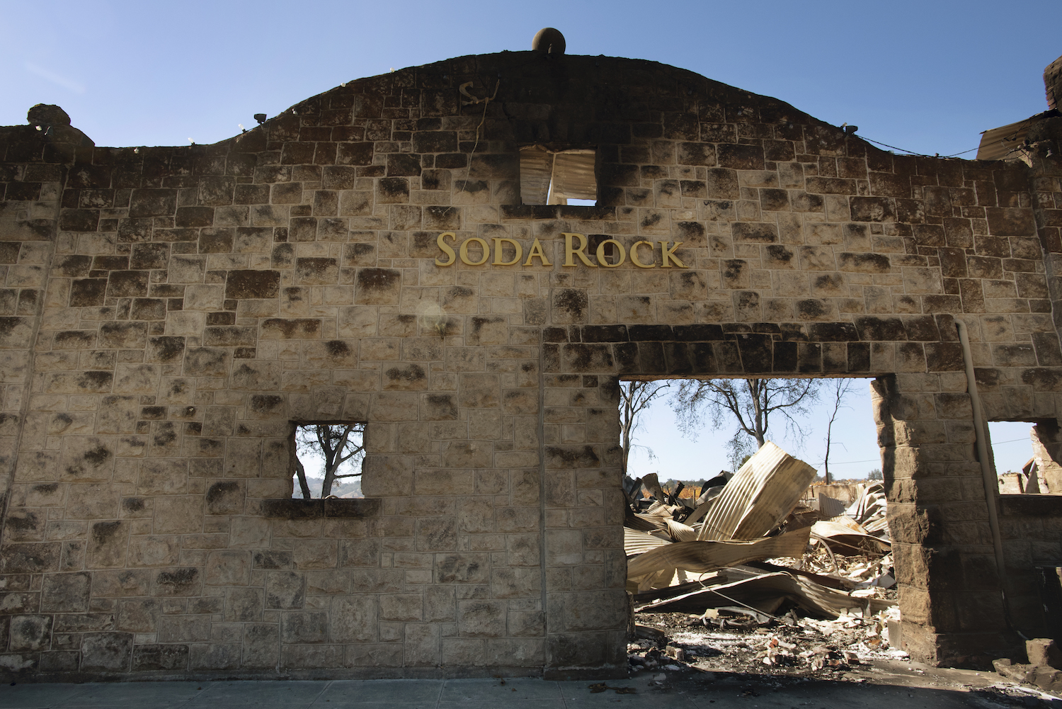 Soda Rock Winery after the Kincade fire
