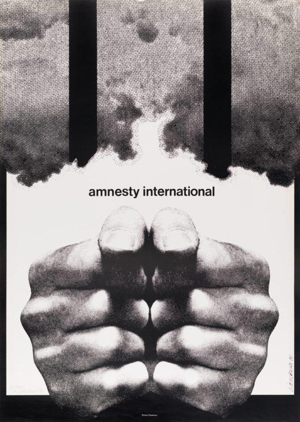 Roman Cieslewicz, Amnesty International, 1975 · SFMOMA