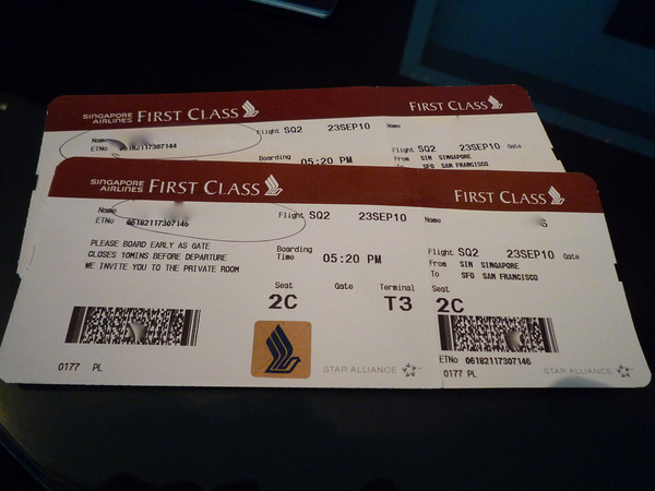 Singapore First Class Check In Sin Sfo777