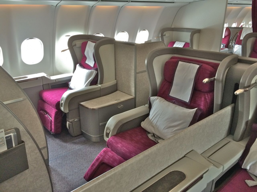 via American, Qatar and Cathay First Class
