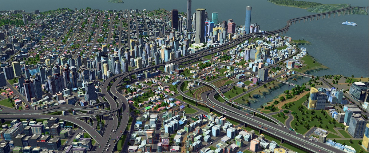 Cities skylines builds its way into retail stores in the for Us city skylines photos