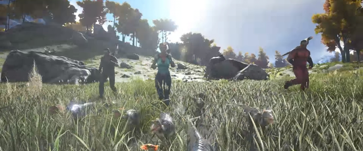 Ark survival evolved 39 s compy terrorizes survivors today for Plante x ark