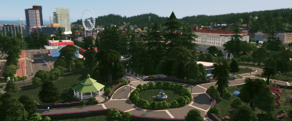 Cities skylines takes a walk in the 39 parklife 39 dlc in may for Us city skylines photos