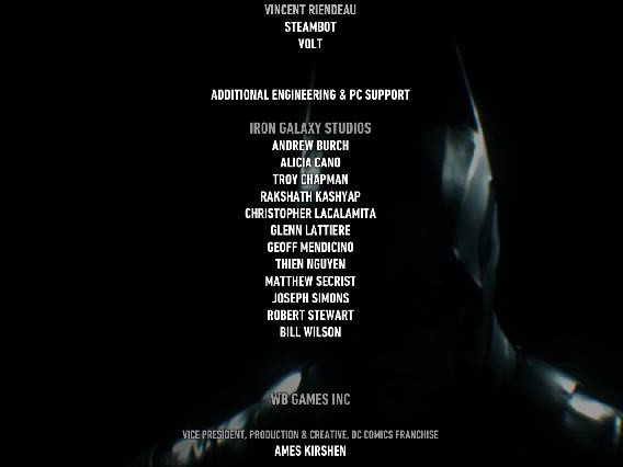 Batman: Arkham Knight Credits