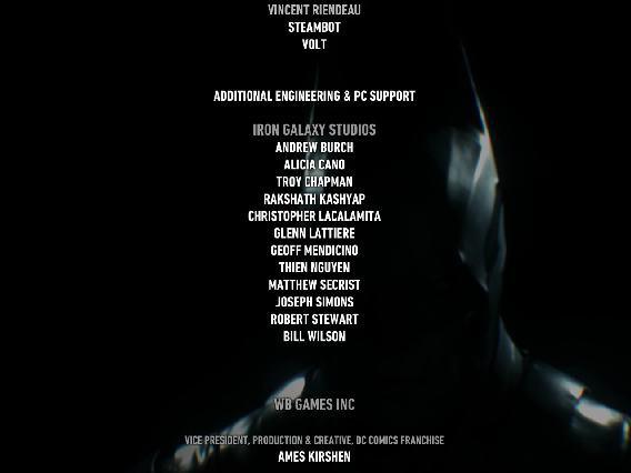 Batman: Arkham Knight Credits