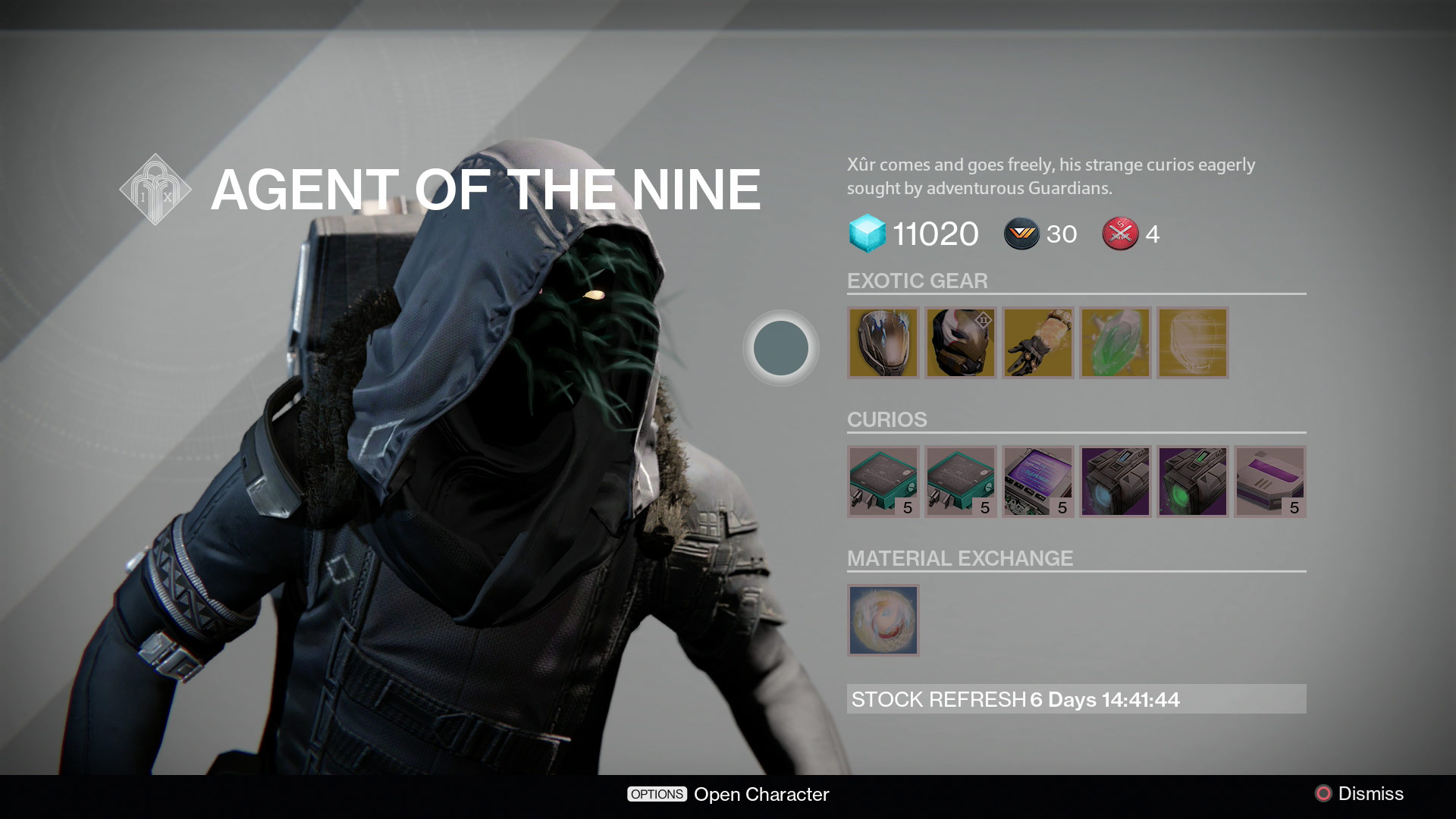 Destiny what is xur selling july 17 19