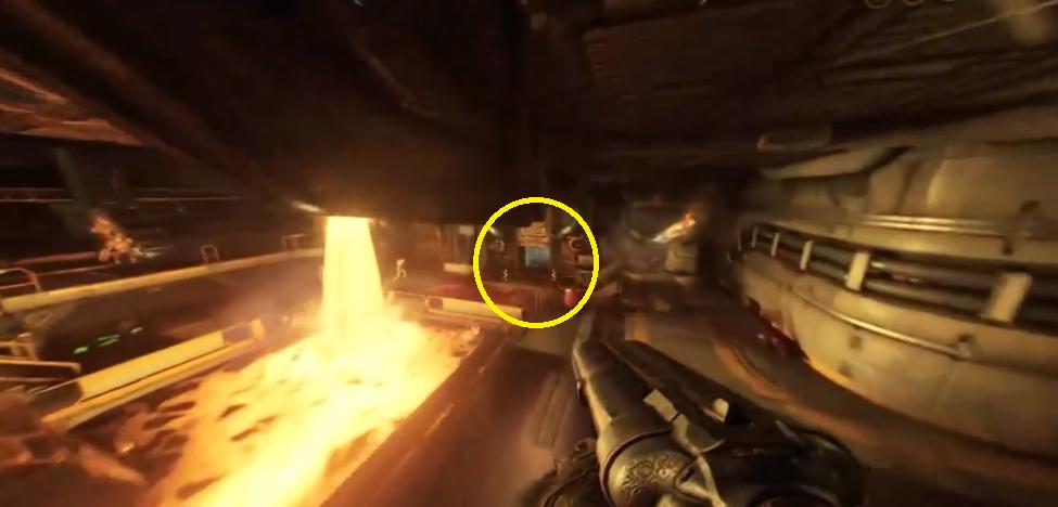 doom level 2 how to get into the secret area