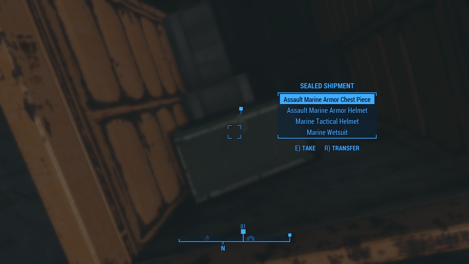 How to find the assault marine combat armor in fallout 4 shacknews looting the chest here will reward you with the assault marine armor chest piece and the assault marine armor helmet solutioingenieria Image collections
