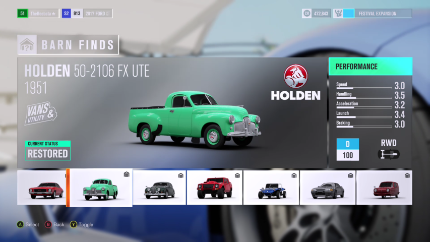 forza horizon how to sell barn finds