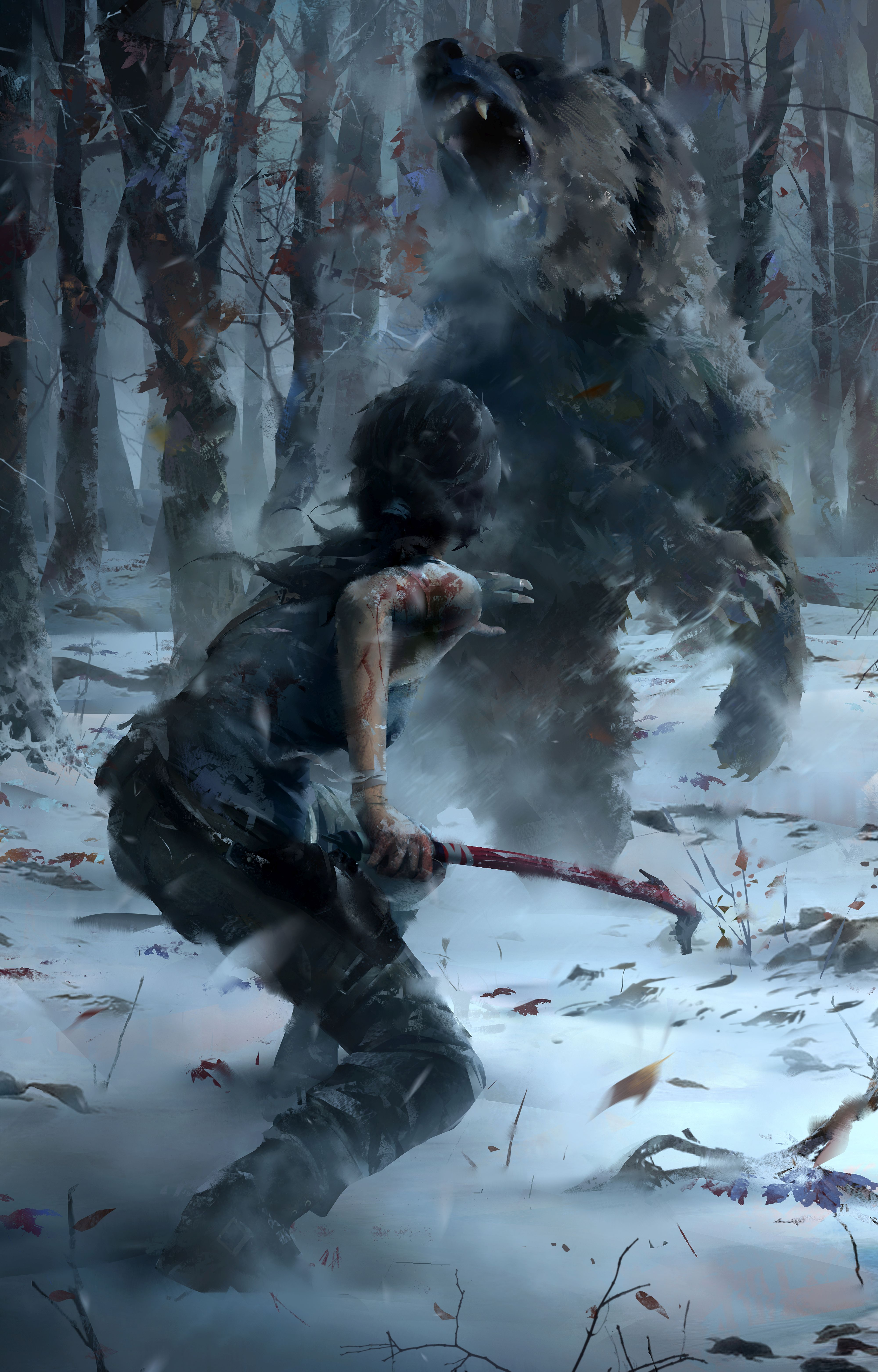 Survival Mode Pits One Player Or Two Against Rise Of The Tomb Raider's  Flora And Elements (image Courtesy Of Crystal Dynamics)