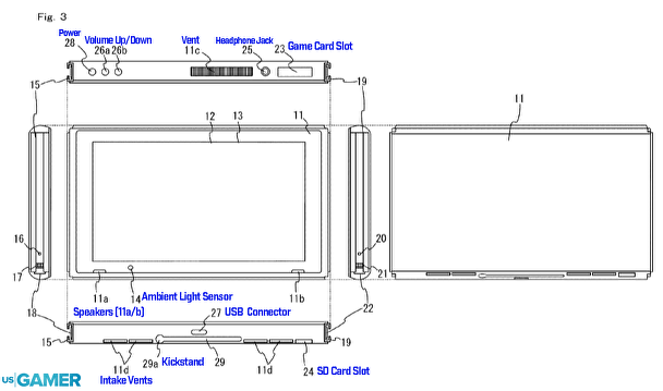 Nintendo Switch patents tease a touchscreen, SD Card slot, and
