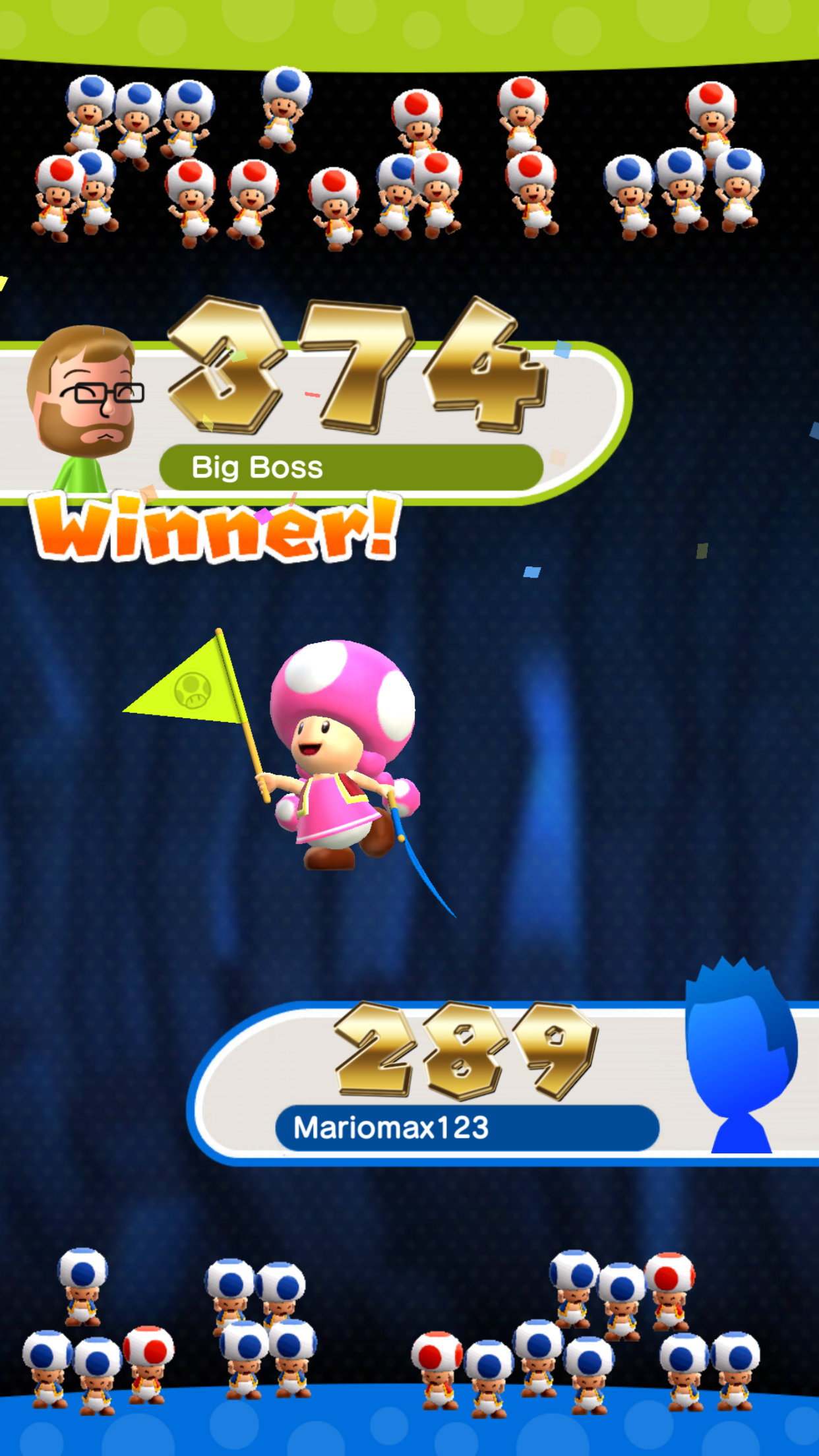 Super Mario Run Rally Results