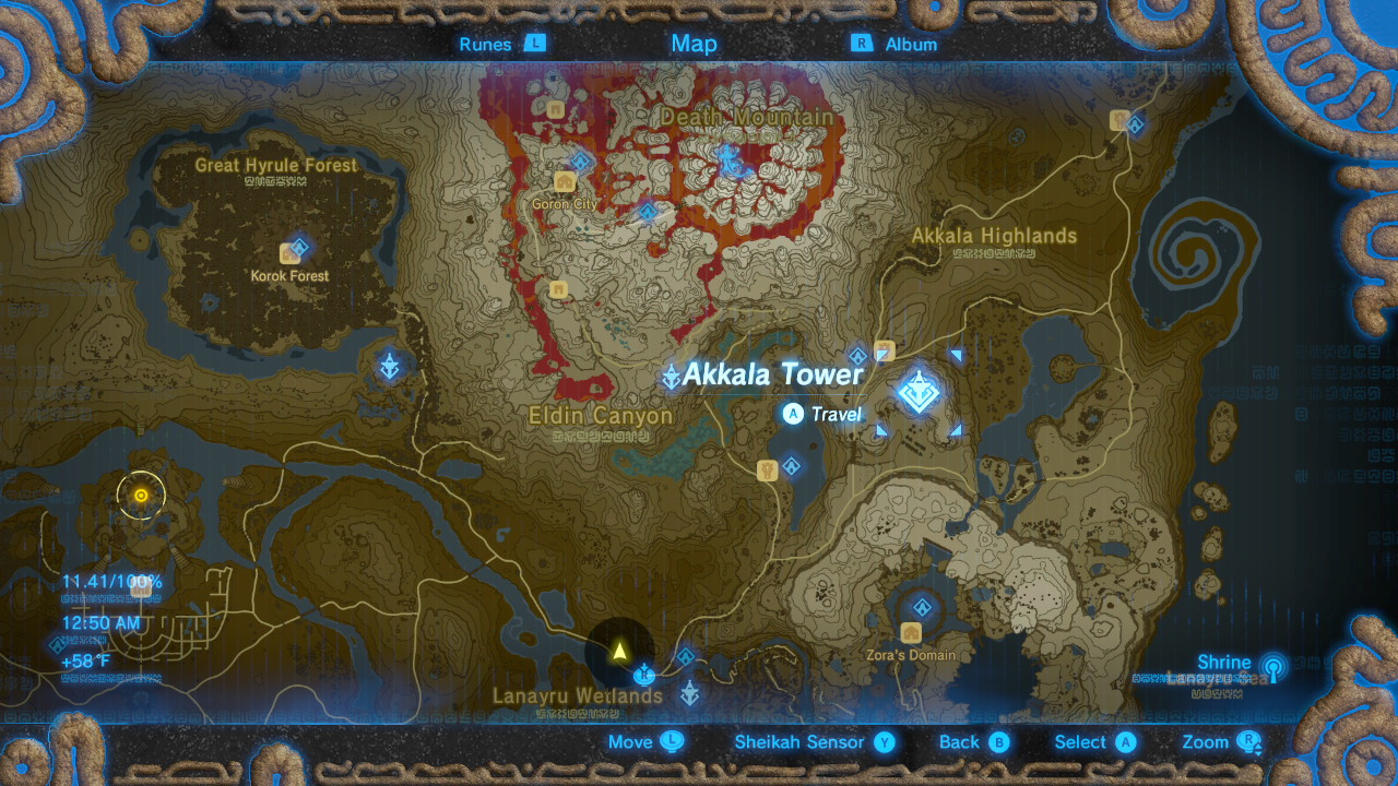 Zelda breath of the wild all sheikah tower locations shacknews akkala tower gumiabroncs Image collections