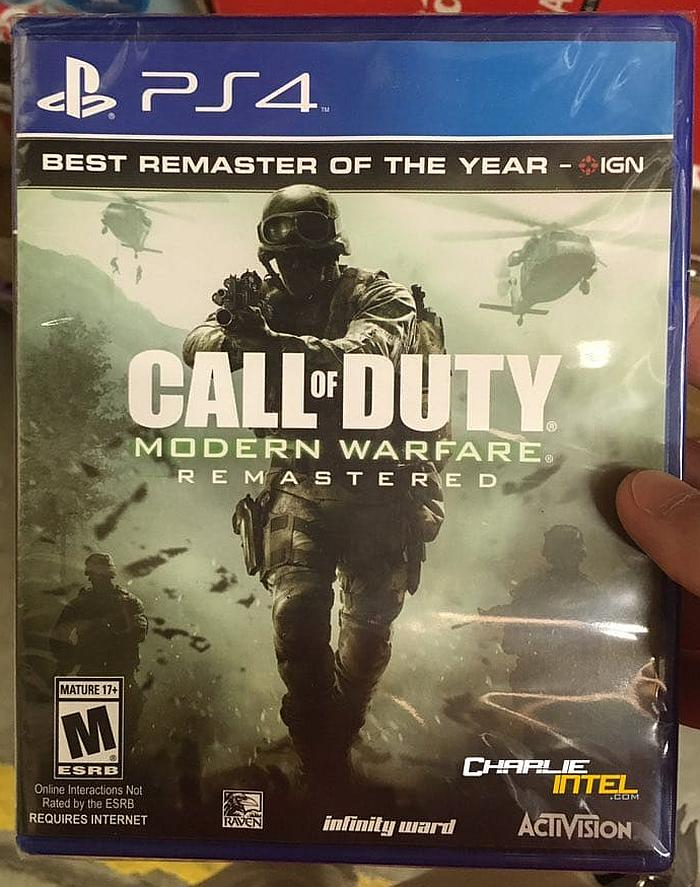 call of duty modern warfare remastered standalone may be. Black Bedroom Furniture Sets. Home Design Ideas