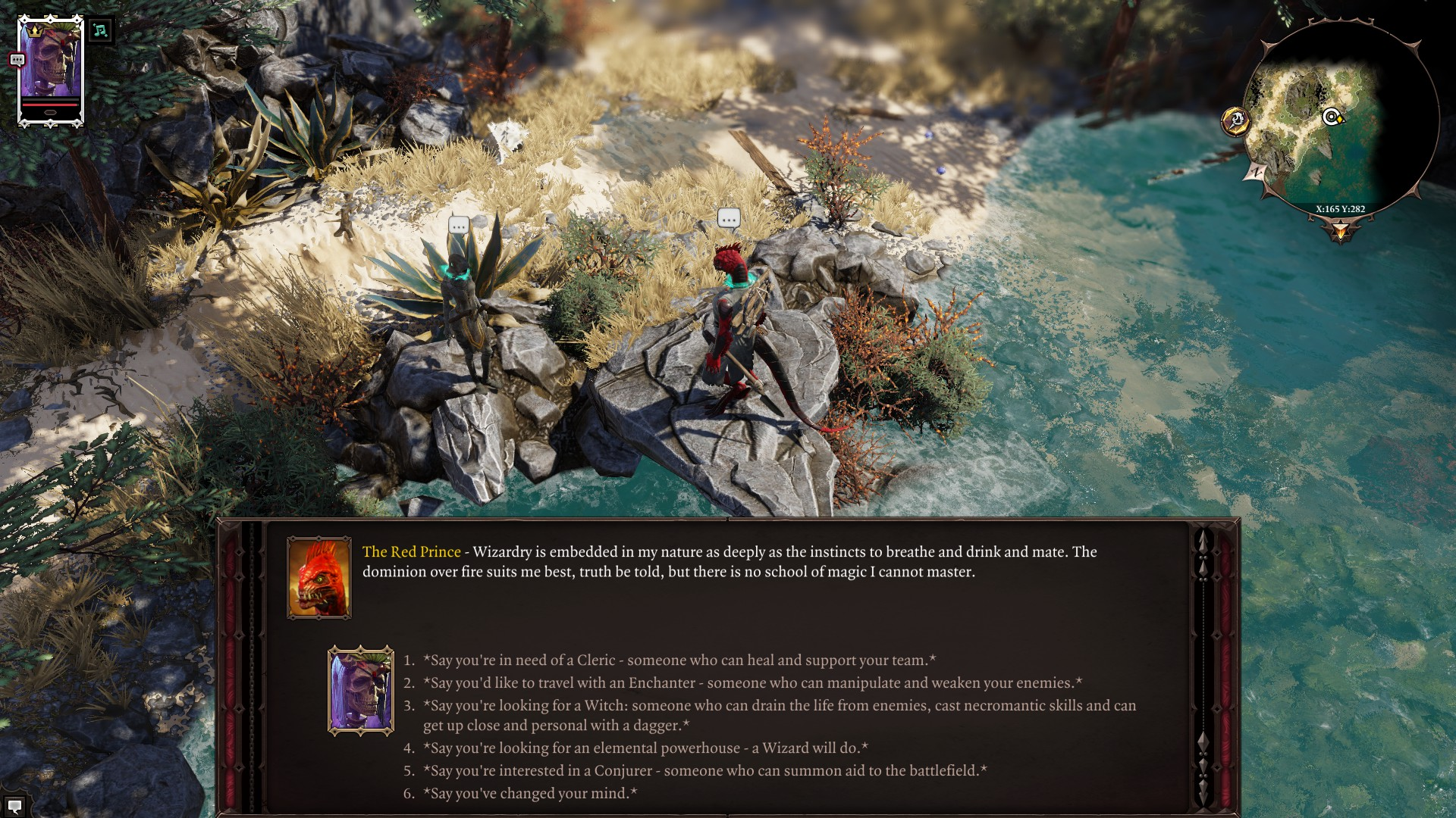 Divinity original sin 2 character creation and beginners tips in original sin 2 the characters your recruit in game give you a handful of dialogue choices once they decide to join you and you can shape them any way forumfinder Gallery