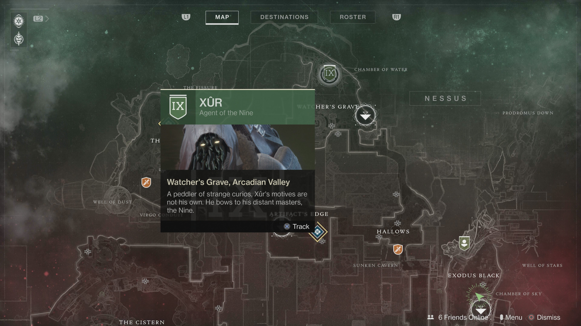 Destiny 2 - Where to Find Xur September 15, 2017