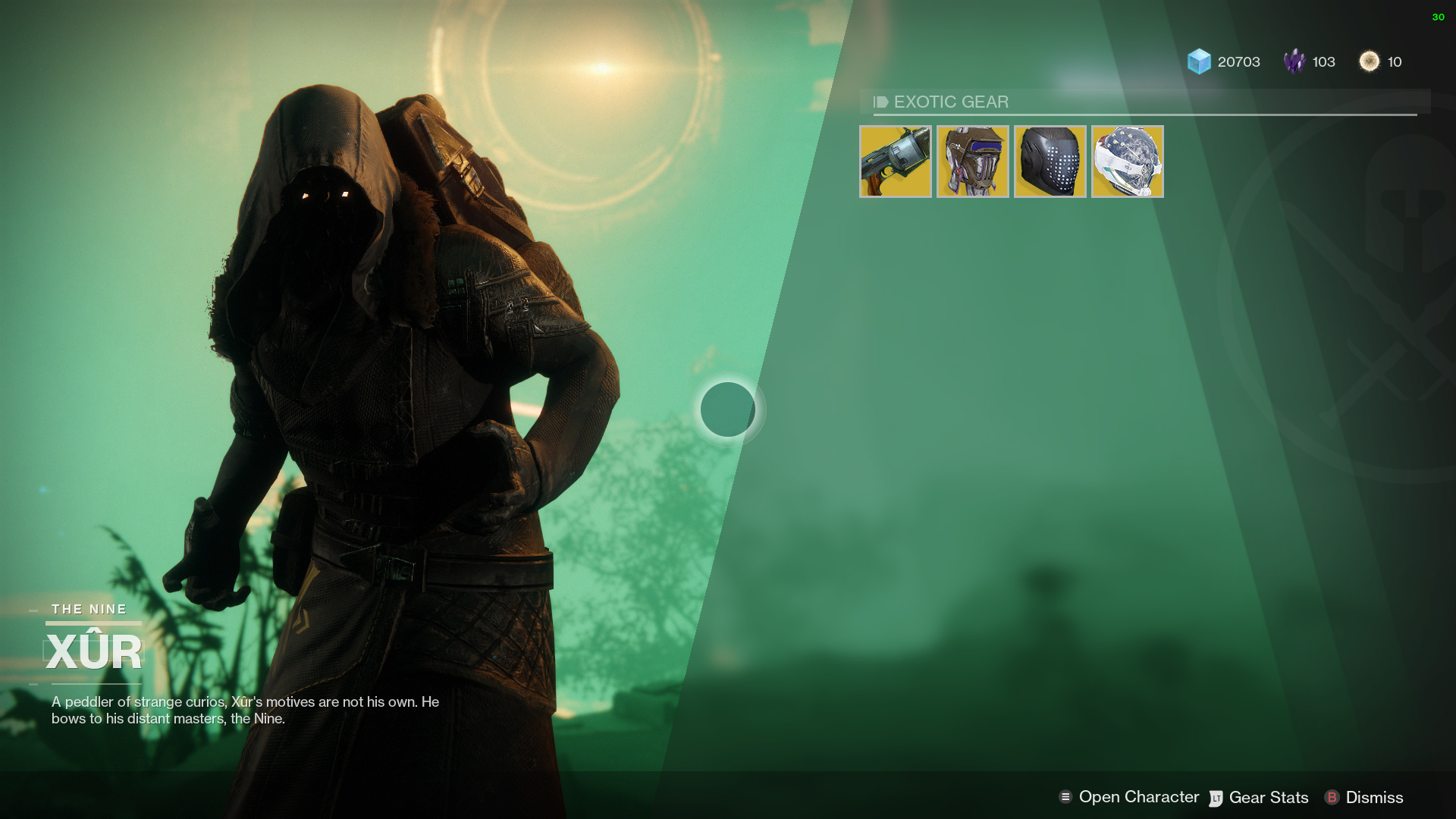Destiny 2 Xur Items and Location for November 10