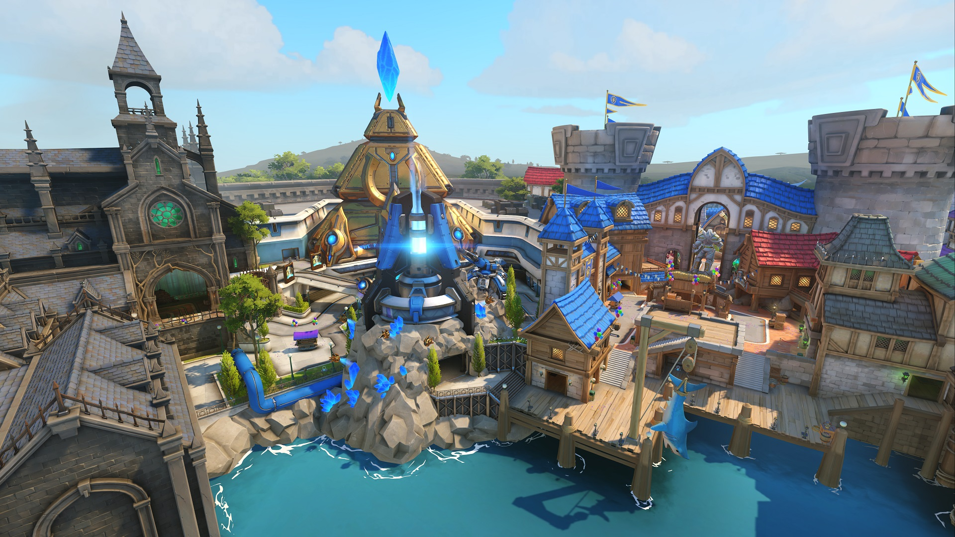 Hands on with overwatchs moira on blizzard world map at blizzcon every inch of the new map is an homage to the publishers current library of games the bulk of the map is comprised of a castle straight out of world of gumiabroncs Gallery