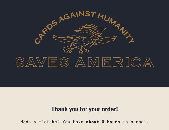 Cards Against Humanity is buying a piece of the USA  border