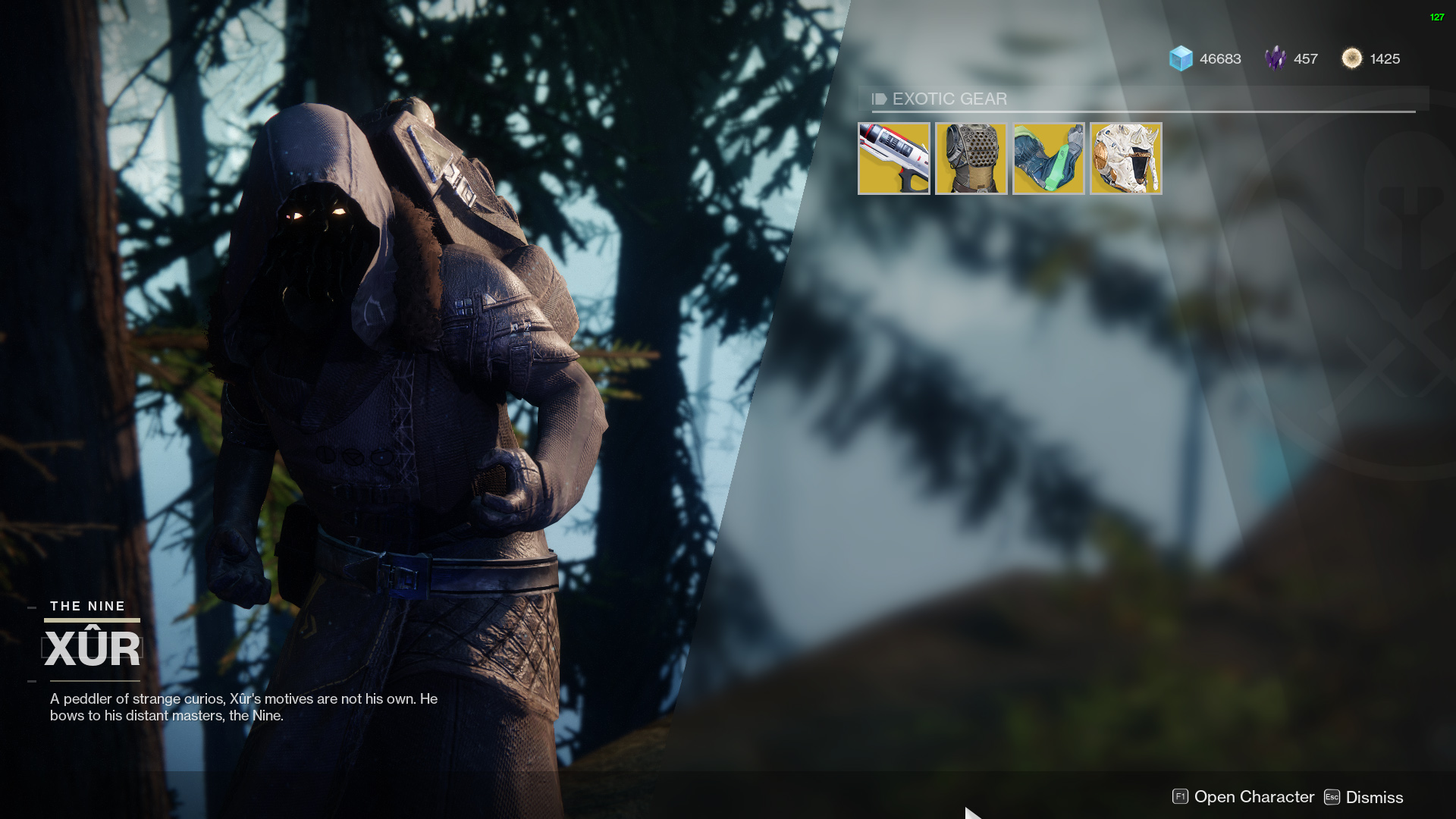'Destiny 2': Where's Xur and What's He Selling (December 1)?