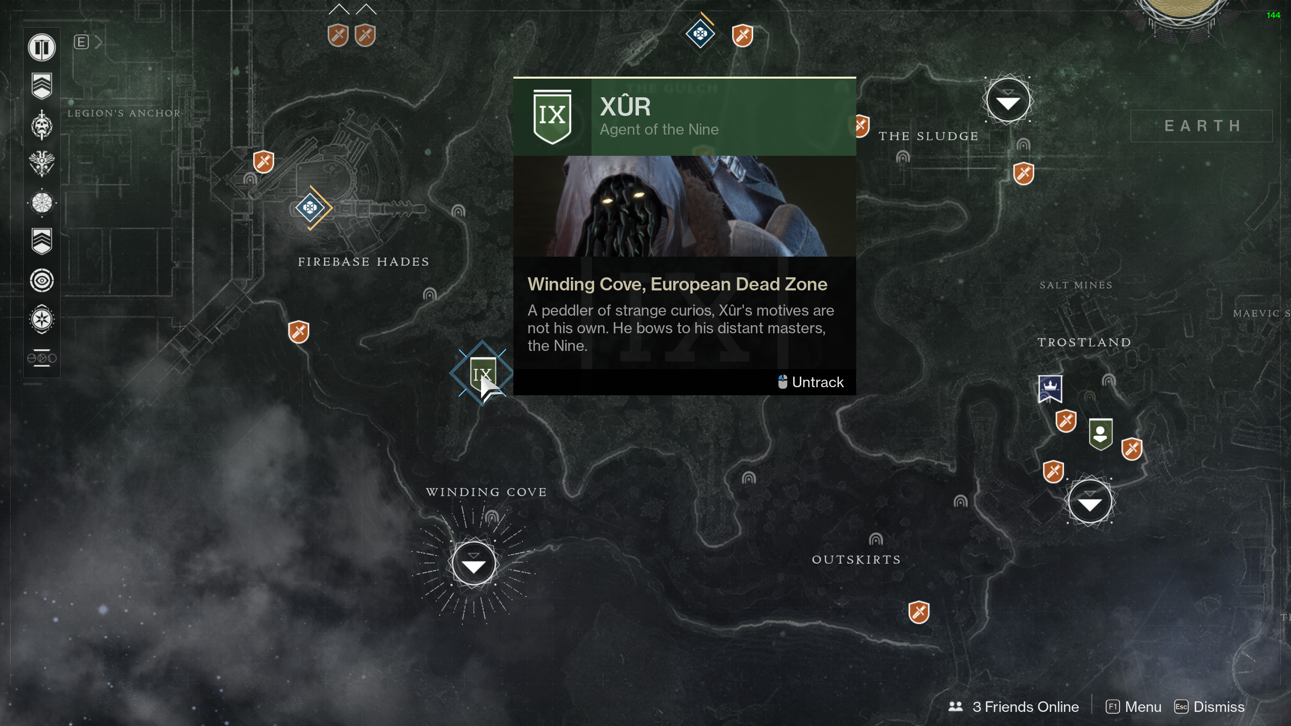 Destiny 2 Xur Location and Items for January 12