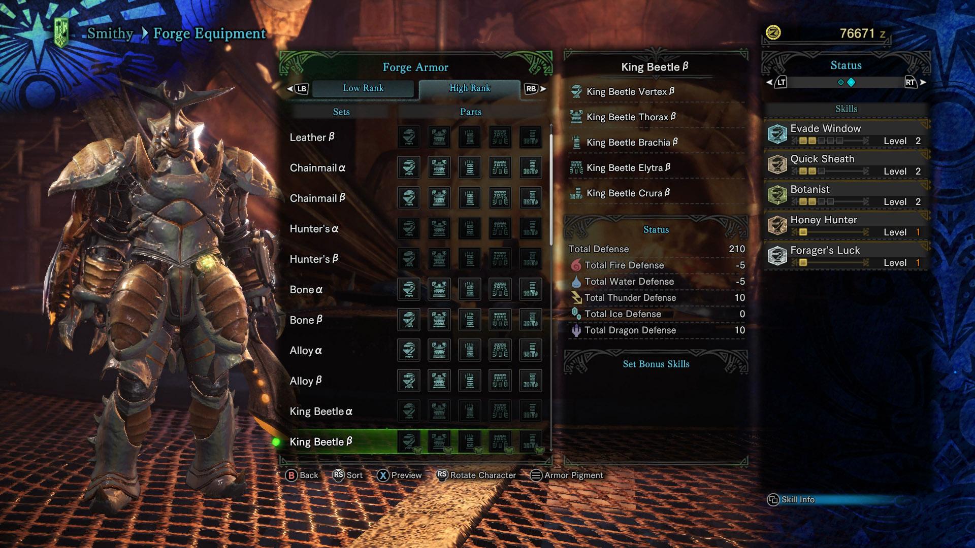 Armor in Monster Hunter World