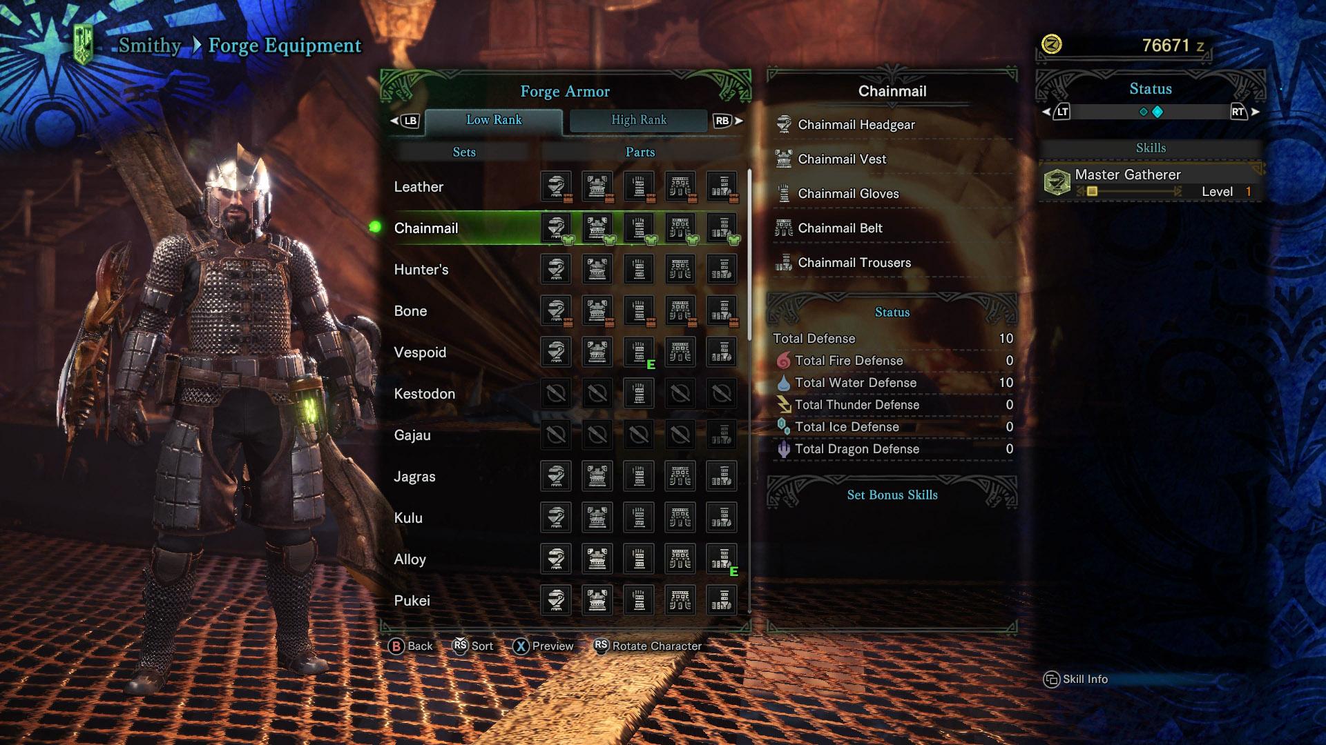 Monster hunter world all armor sets shacknews for Decoration list monster hunter world