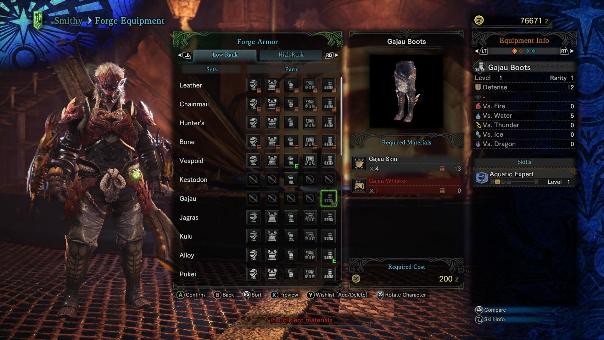 Monster hunter world all armor sets shacknews for Decorations monster hunter world