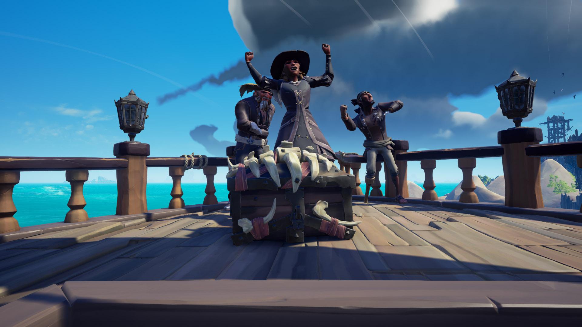 Skeleton captains chest