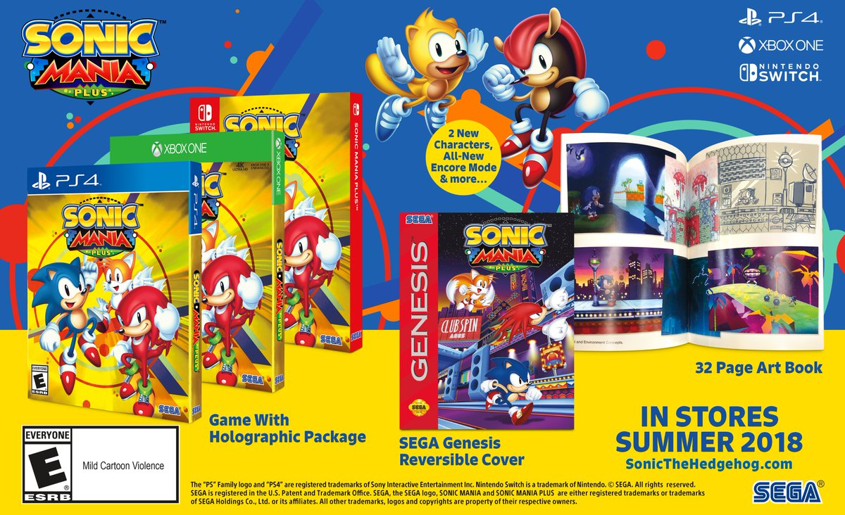 Sonic Mania Plus brings two new characters and a physical release