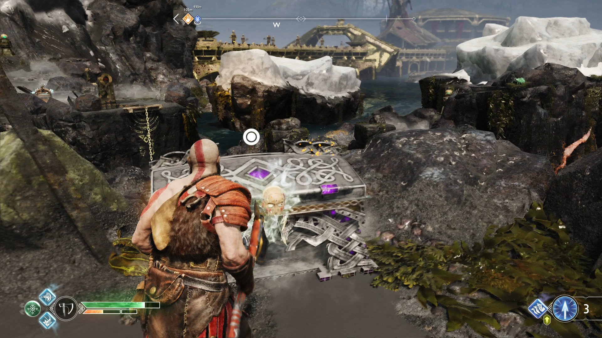 how to open wooden chest god of war
