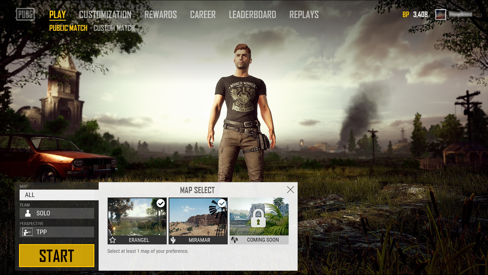 PUBG Will Let you Choose Your Map Soon