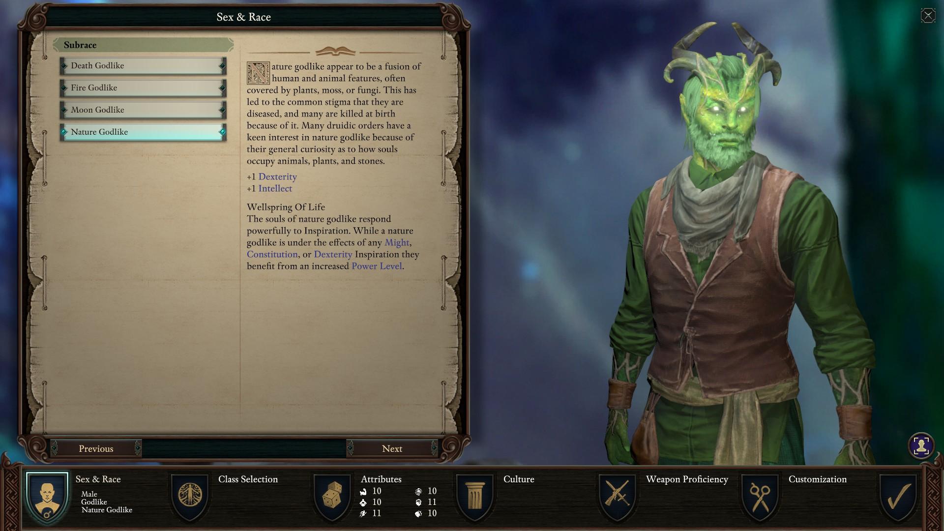 Pillars of Eternity 2: Deadfire Character Creation Process