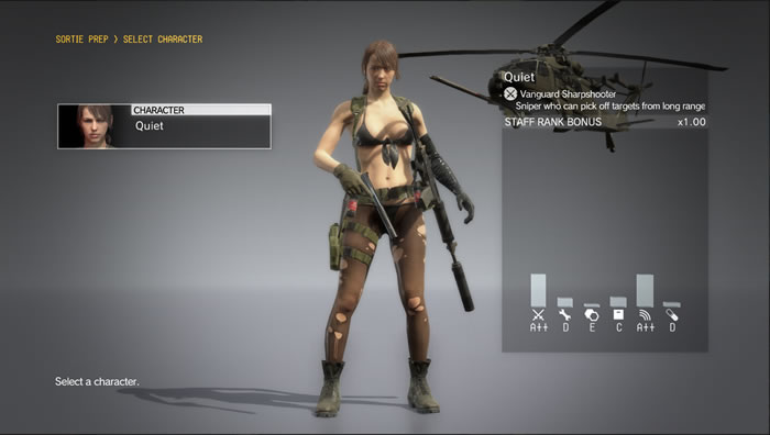 Quiet Now Playable in Metal Gear Solid 5's FOB Missions
