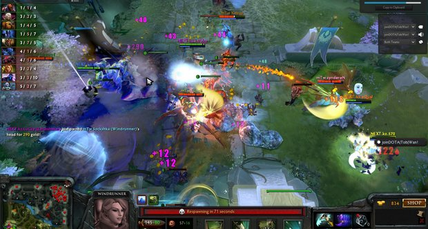 dota 2 pennants support pro teams give items shacknews