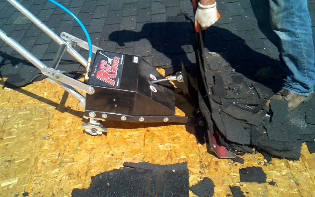 Rapid Roof Remover In Action During A Tear Off