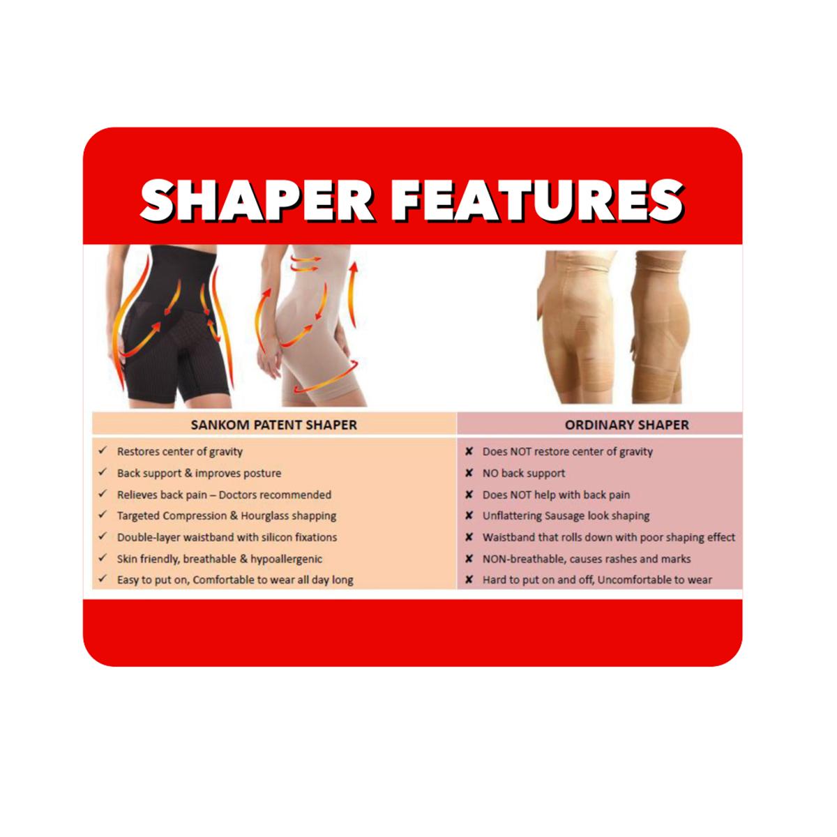 d69857a2fb SANKOM Black Slimming   Posture Shaper with Aloe Vera Fibers L XL