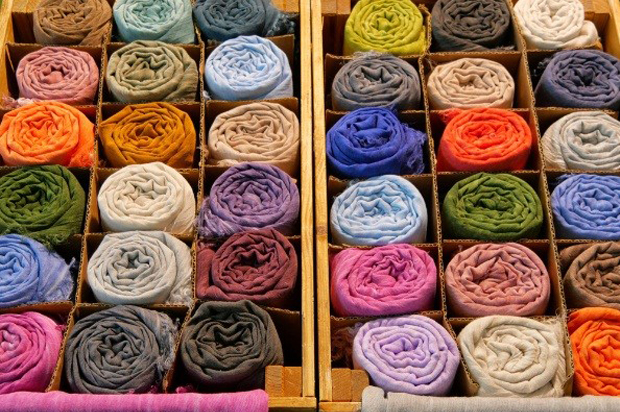 Scarves & Sarongs in Drawer