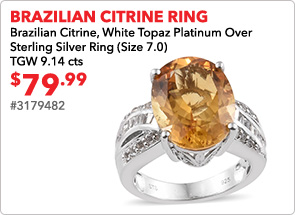 Brazilian Citrine Ring