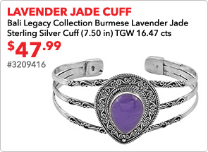 Lavender Jade Cuff