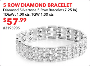 5 row Diamond Bracelet