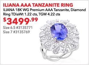 Iliana AAA Tanzanite Ring